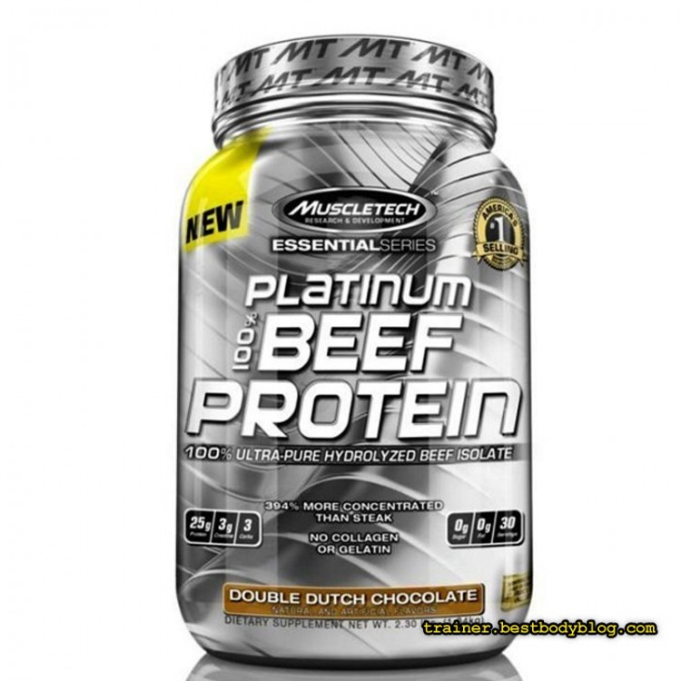 MuscleTech 100% Beef Protein Platinum Essential 0.9 кг | Мускултеч 100% биф протеин