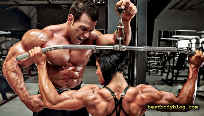 Тяга верхнего блока за голову | Отличное упражнение для трапециевидных мышц