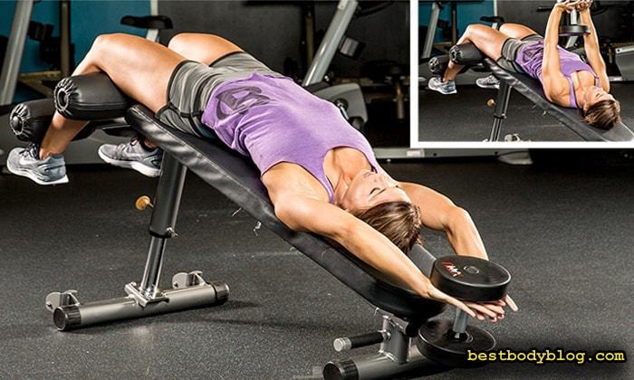 Отличное упражнение для широчайших | Пуловер на обратнонаклонной скамье