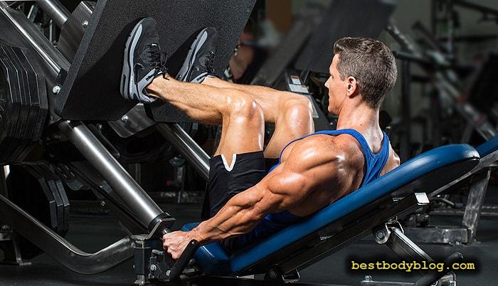 Упражнение для набора мышечной массы ног | Жим ногами в тренажере
