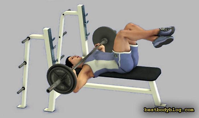 """Лучшие упражнения на грудь. Жим штанги лежа в стиле """"гильотина"""""""