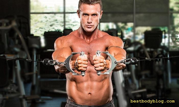 Лучшие упражнения на грудь. Сведение рук в кроссовере