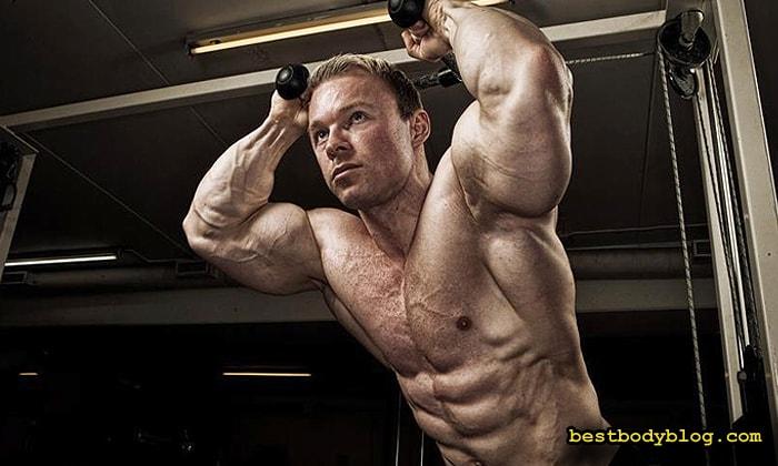 Лучшие упражнения на трицепс | Разгибание рук на блоке из-за головы