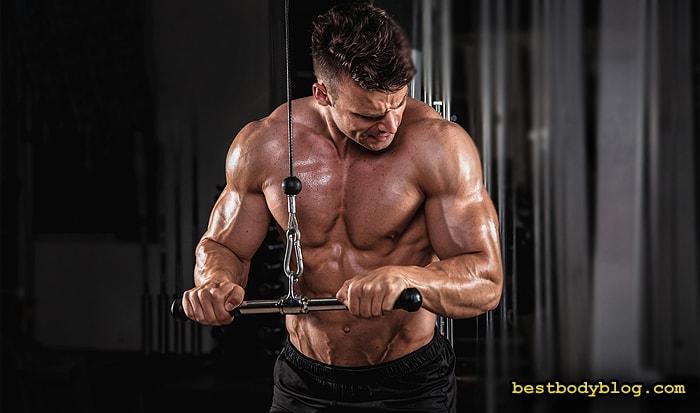 Лучшие упражнения на трицепс | Разгибание рук на блоке с прямой рукоятью