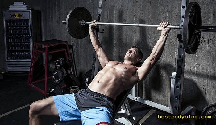 Лучшие упражнения на грудь | Жим штанги на наклонной скамье