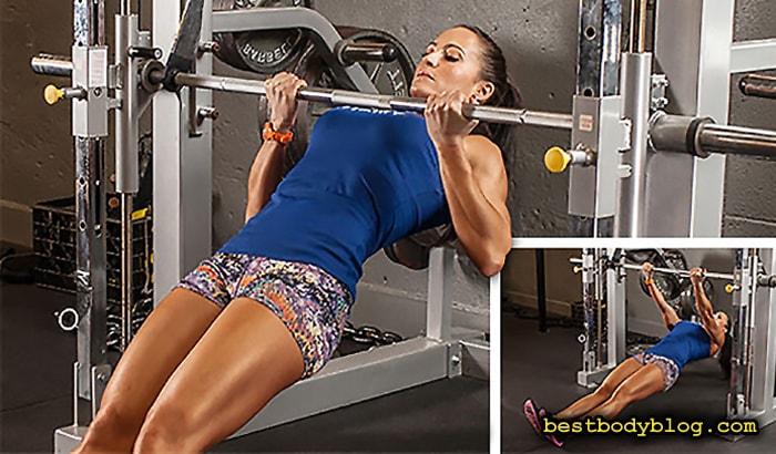 Лучшие упражнения для спины на массу | Подтягивания на грифе штанги обратным хватом