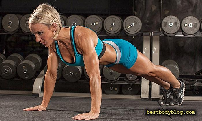 Упражнение на пресс планка. Повышает мышечный тонус пресса и помогает сжигать жир