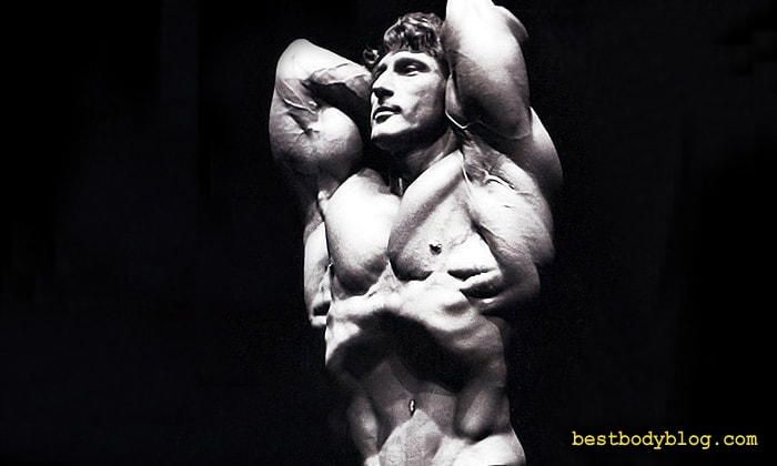 Френк Зейн. Трехкратный Мр. Олимпия и большой любитель делать упражнение вакуум