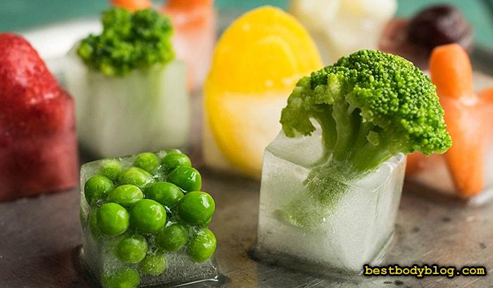 Замороженные продукты - хороший источник витаминов и минералов в холодное время года