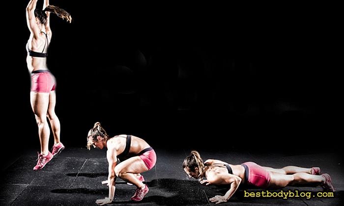 Бурпи. Лучшее комплексное упражнение со своим весом для похудения