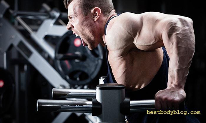 Контроль за локтями обеспечивает максимальную нагрузку на трицепс на протяжении всего упражнения