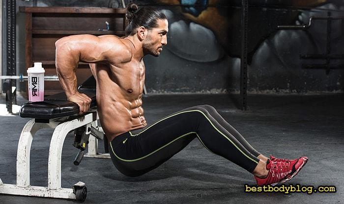 Отжимания обратным хватом на трицепс | Одно из лучших упражнения на руки с весом своего тела