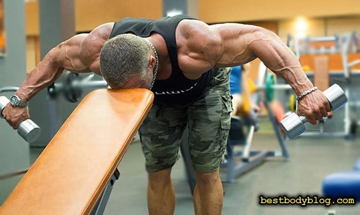 Упражнение с гантелями на заднюю дельту | Разведение в наклоне | Вариант 1