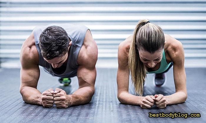 Статическое упражнение планка