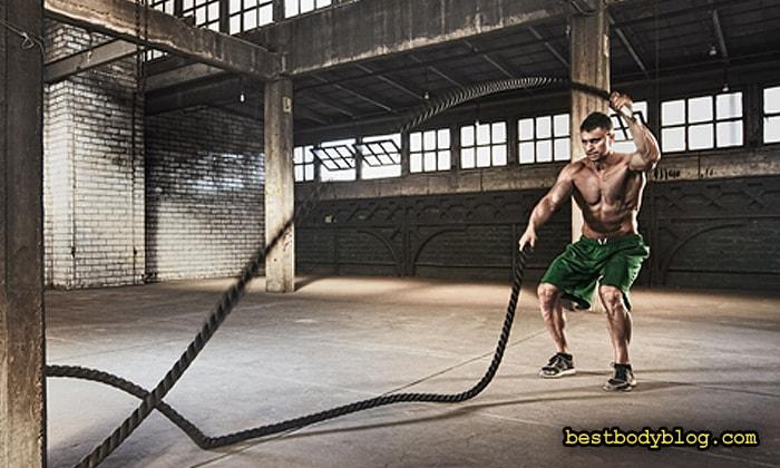 Кроссфит вместо кардио | Упражнение с канатами