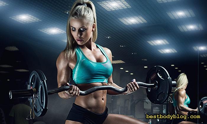 Подъём штанги на бицепс | Главное упражнение тренировки бицепса для женщин