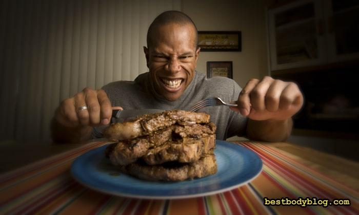 После закрытия углеводного окна наступает период приёма белковой пищи