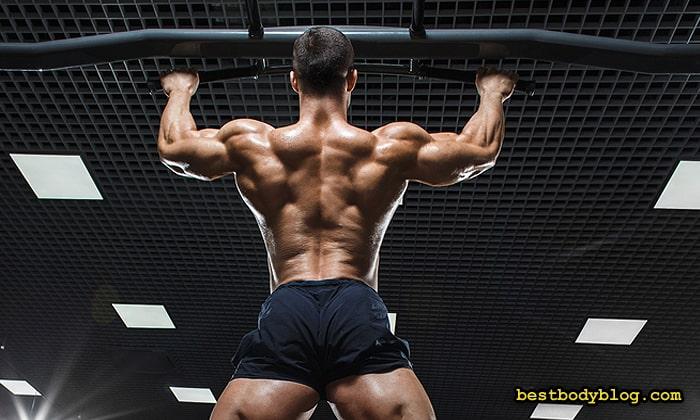 Подтягиваться на перекладине только за счёт мышц спины непросто