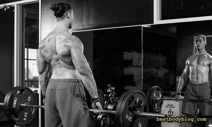 Шраги со штангой улучшают кровоснабжение верха спины и шеи