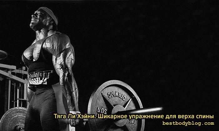 Тяга Ли Хэйни. Шикарное упражнение для верха спины