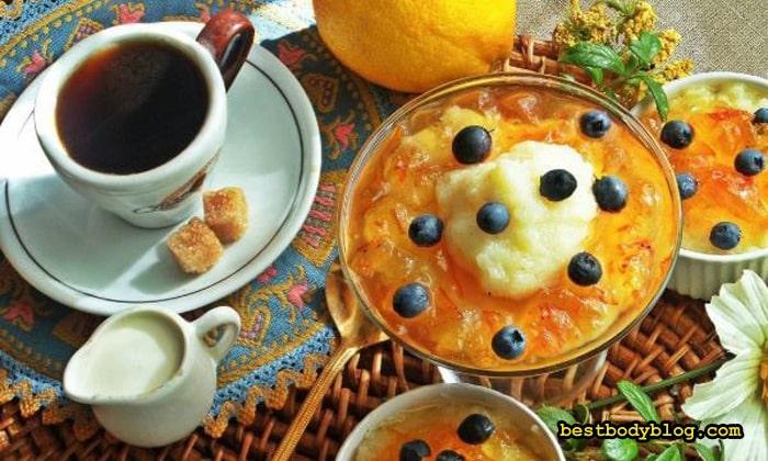 Десерт из манной каши