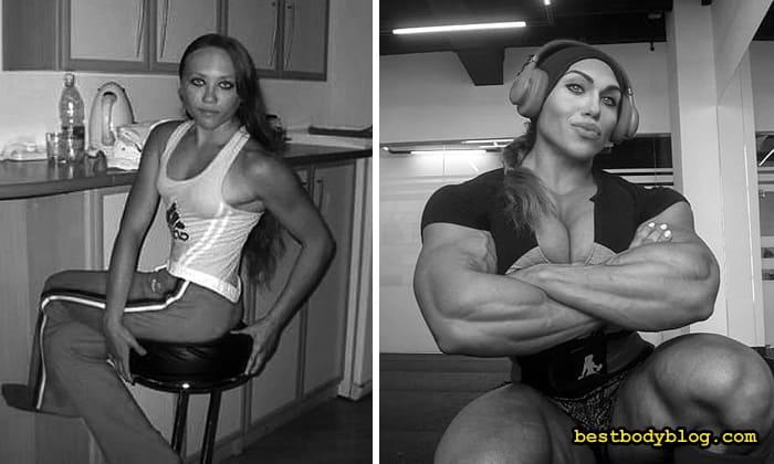 Наталья Кузнецова бодибилдинг до и после