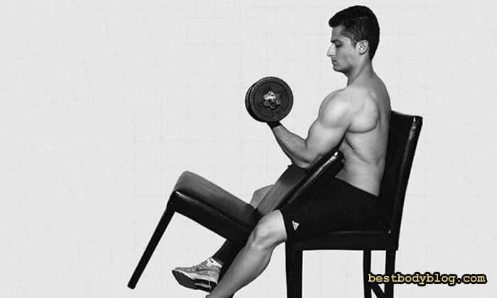 Упражнение для двуглавой мышцы