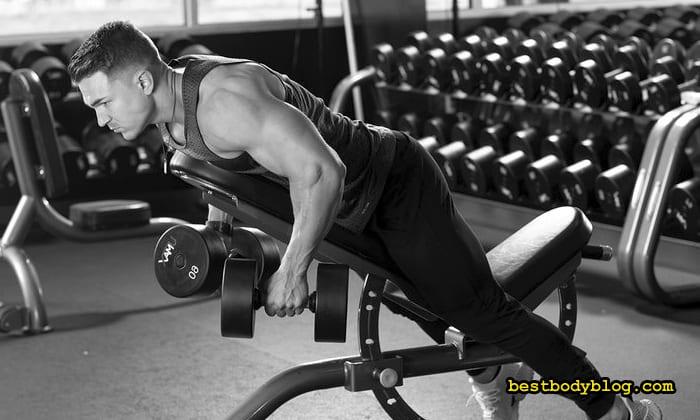Упражнения для спины с гантелями дома фото thumbnail