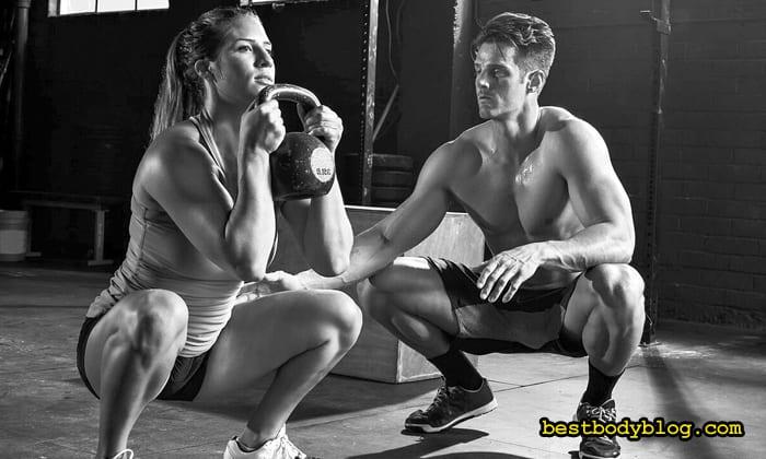 Тренировка ног с гирей